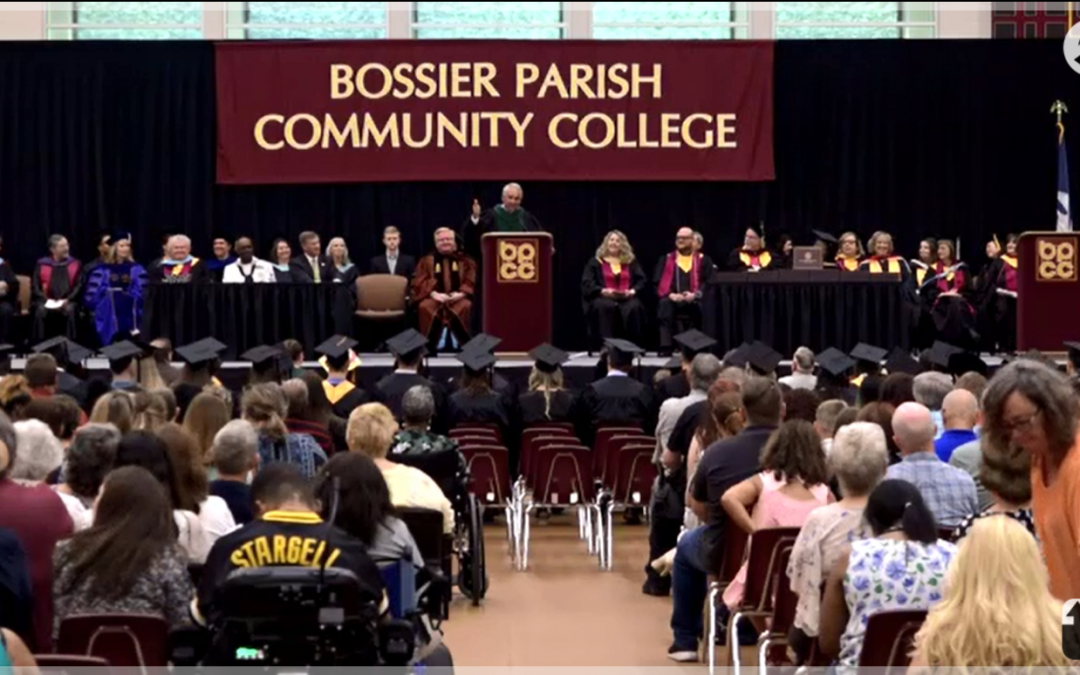 BRF President and CEO John F. George Jr., M.D. delivers BPCC commencement address