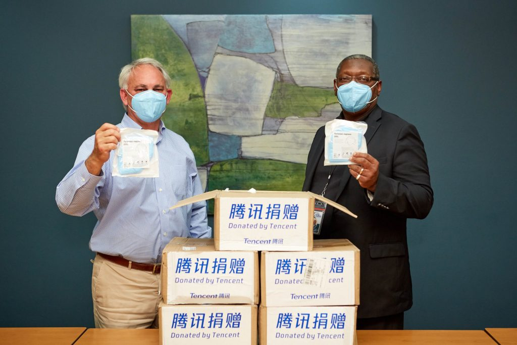 BRF receives donation from Tencent of 20,000 KN95 respirator masks